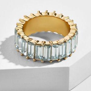 BaubleBar Alidia Light Blue Ring, sz 8